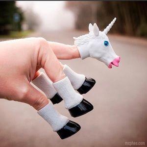 {Urban Outfitters} Handicorn Unicorn Finger Puppet